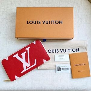 Louis Vuitton Giant Monogram Rouge Zippy Wallet